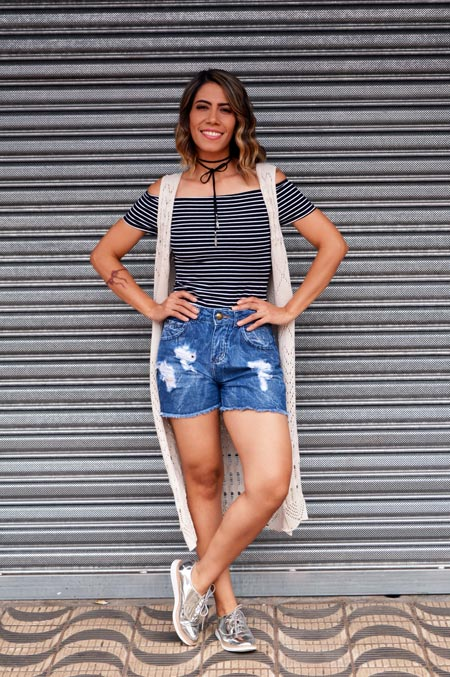 Look casual com oxford prata